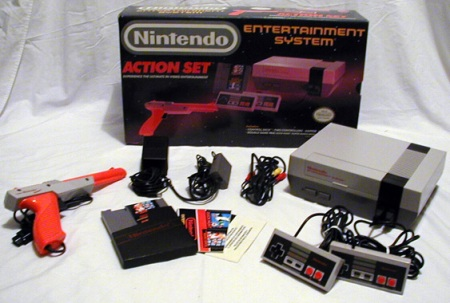 The Nintendo Entertainment System. Your parents help you hook it up!